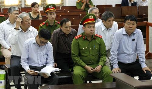 Các bị cáo tại phiên tòa. Ảnh: TTXVN.