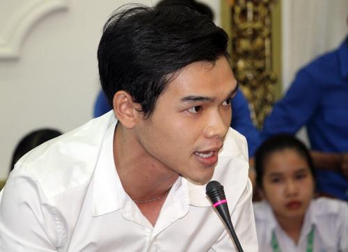 Sinh viên Nguyễn Thanh Huy. Ảnh: Mạnh Tùng.