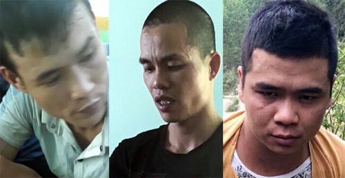 Ba nghi can bị bắt. Ảnh: Phạm Linh.