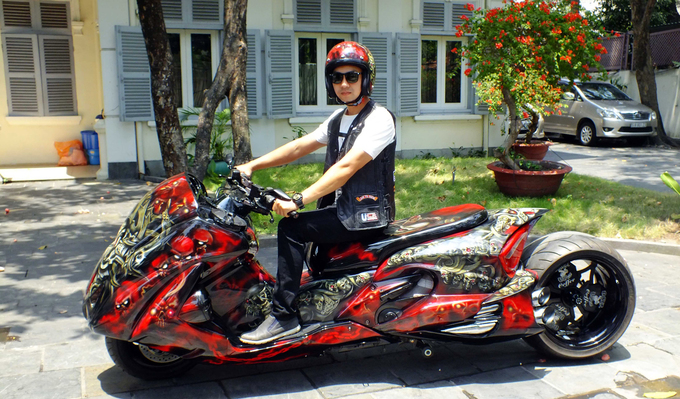 Honda Silver Wing độ hàng độc của dân chơi Sài Gòn