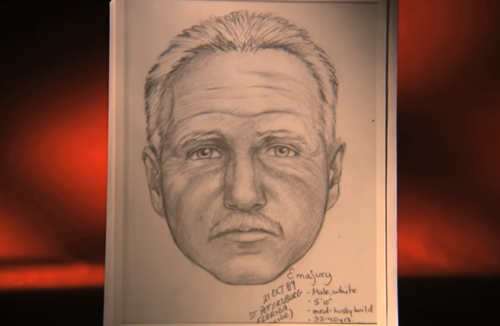 Cảnh sát phác họa chân dung nghi phạm.