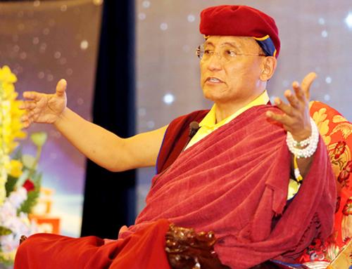 ĐứcGyalwang Drukpa chia sẻ sống hạnh phúc. Ảnh: Drukpa.