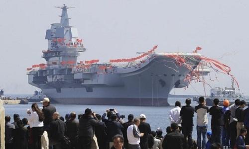 Tàu sân bay nội địa đầu tiên của Trung Quốc chạy thử trong tháng 4