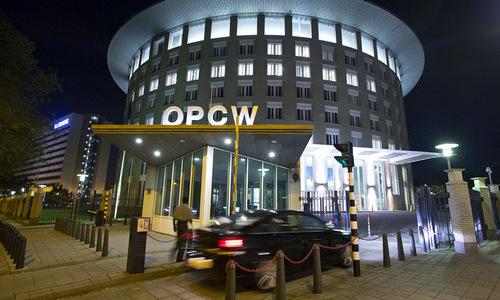 Trụ sở OPCW tại thành phố Hague. Ảnh: AFP.