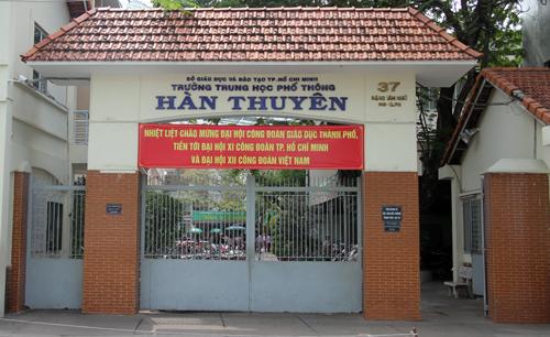 Trường THPT Hàn Thuyên (quận Phú Nhuận, TP HCM). Ảnh: Mạnh Tùng.