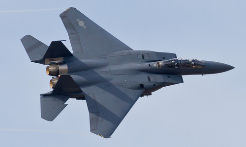Tiêm kích F-15K Hàn Quốc đâm vào núi