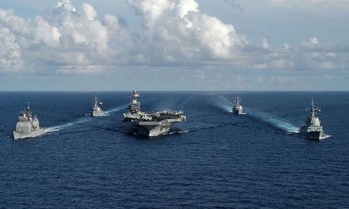 Báo Hong Kong: Tàu sân bay Mỹ, Trung cùng xuất hiện trên Biển Đông
