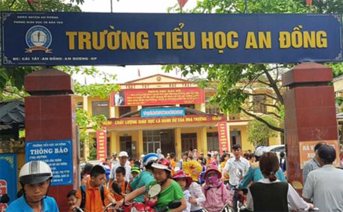 Trường Tiểu học An Đồng, xã An Đồng (An Dương, TP Hải Phòng).