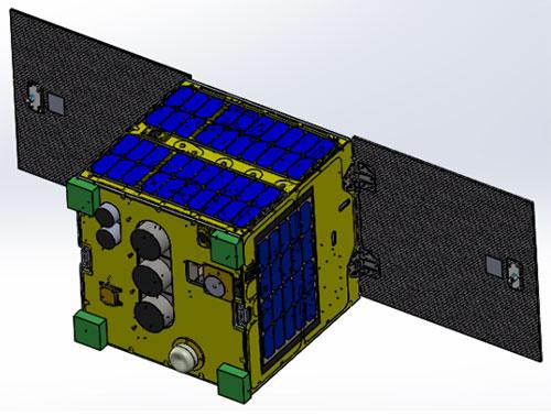 Mô hìnhVệ tinh MicroDragon (Nguồn: TTVTQG)