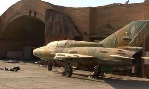 Máy bay chiến đấu Syria tại căn cứ T-4 hồi tháng 9/2017. Ảnh: Iraq News