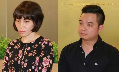 Hai bị can Châu Nguyên Anh và Phạm Quang Minh.
