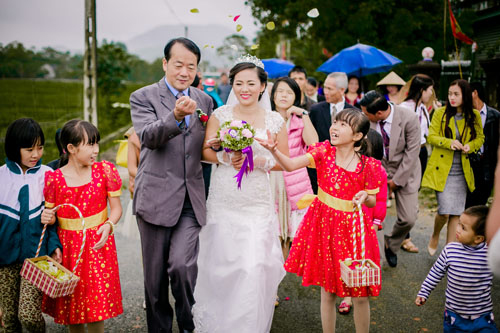 Đám cưới của một cô dâu Việt với người chồng Đài Loan năm 2015. Ảnh: Long Trần