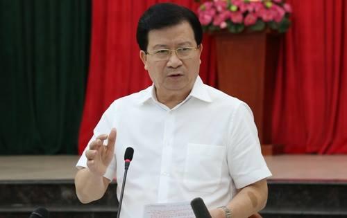 Phó thủ tướng Trịnh Đình tại buổi làm việc với tỉnh Đồng Nai. Ảnh: Phước Tuấn.