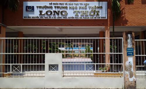 Trường THPT Long Thới, huyện Nhà Bè. Ảnh: Mạnh Tùng.