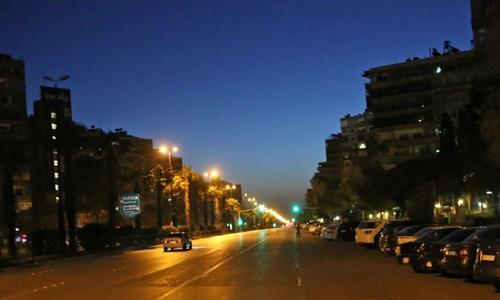 Quang cảnh thủ đôDamascus sau khi Mỹ kết thúc đợt không kích Syria ngày 14/4. Ảnh: AFP.