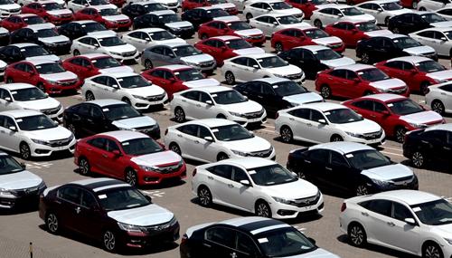 Từ đầu năm đến nay, lô xe Honda nhập từ Thái Lan vẫn chiếm phần lớn lượng xe con nhập khẩu vào Việt Nam. Ảnh: Quốc Đoan.