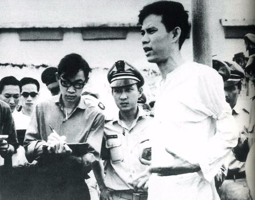 Nguyễn Văn Trỗi trong giờ phút ở pháp trường. Ảnh: Thành Đoàn TP HCM.