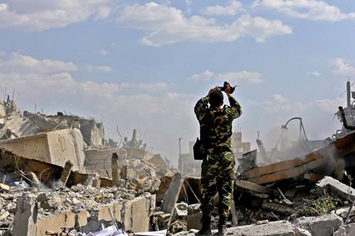 Người dân Damascus nằm ngủ khi Mỹ không kích Syria - ảnh 2