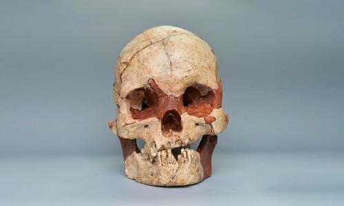 Sọ người hoàn chỉnh 16.000 năm tuổi được phát hiện ở Quảng Tây. Ảnh:ECNS.