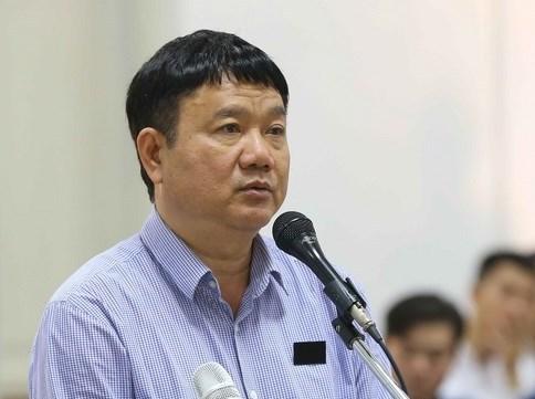 Ông Đinh La Thăng tại phiên tòa sơ thẩm thứ hai. Ảnh: TTXVN.