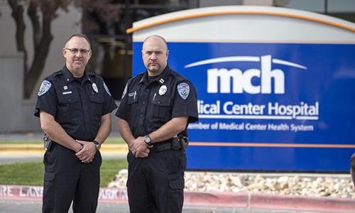 Lực lượng cảnh sát bệnh viện hiện đã trở thành bộ phận không thể thiếu tại một số cơ sở y tế ở Mỹ. Ảnh minh họa: Medical Center Hospital.