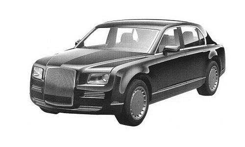 Thiết kế mẫu xe limousine mới dành cho Tổng thống Nga thuộc dự án Cortege. Ảnh: Sputnik.