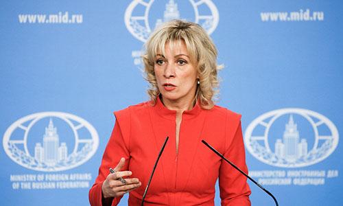 Người phát ngôn Bộ Ngoại giao NgaMaria Zakharova. Ảnh: Tass.
