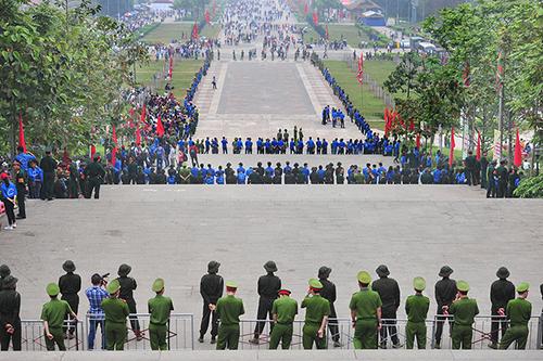 Lễ hội Đền Hùng 2018 cũng được tổ chức tương tự như năm ngoái. Ảnh: Giang Huy.