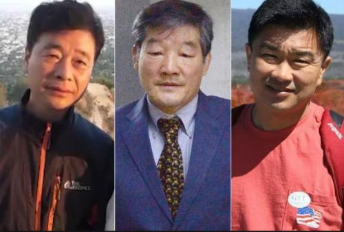 Từ trái sang,Kim Hak-song,Kim Dong-chul vàKim Sang-duk. Ảnh: CNN.