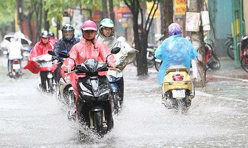 Bắc Bộ mưa giông trong ngày nghỉ lễ giỗ Tổ Hùng Vương