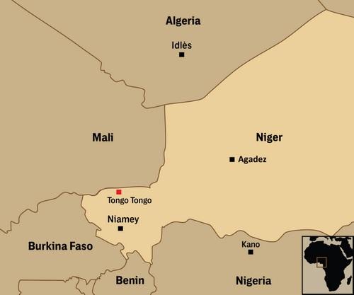 Căn cứ mới của Mỹ đặt tại Agadez, cách nơi xảy ra phục kích khoảng 600 km. Đồ họa: Intercept.