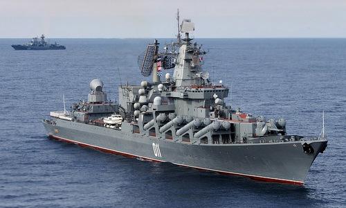 15 chiến hạm Nga tập trận bắn đạn thật trên biển Nhật Bản -