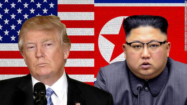 Tổng thống Mỹ Donald Trump và lãnh đạo Triều Tiên Kim Jong-un. Ảnh: CNN.