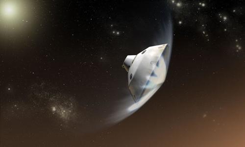 NASA dự định đưa xe thám hiểm với tấm chắn bảo vệ đáp xuống hành tinh đỏ. Ảnh:NASA/JPL-Caltech.