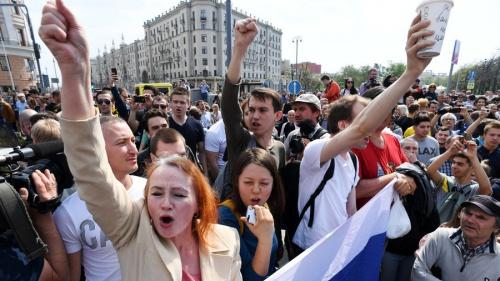 Người biểu tình ở Moskva