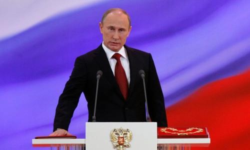 Ông Putin trong lễ tuyên thệ nhậm chức lần thứ ba tại Điện Kremlin năm 2012. Ảnh: AFP.