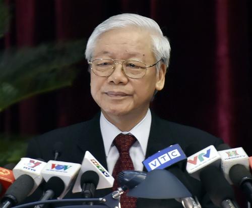 Tổng bí thư Nguyễn Phú Trọng phát biểu tại hội nghị. Ảnh: VGP.