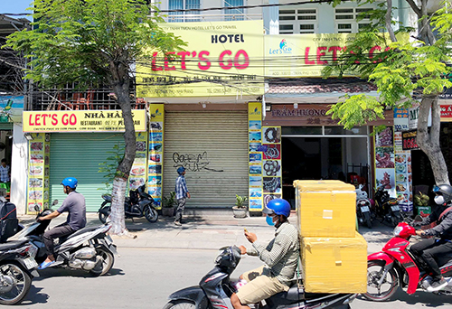 Nhà hàng nơi nhóm khách Trung Quốc bị tố giác không trả hơn 9 triệu đồng cho bữa ăn. Ảnh: Xuân