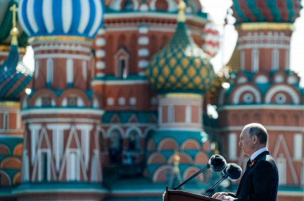 Tổng thống Nga Vladimir Putin phát biểu tại buổi lễ. Ảnh: Reuters.