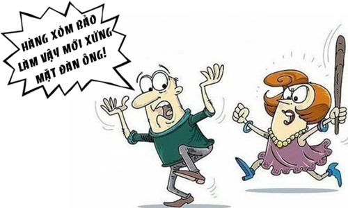 Vợ nổi điên khi chồng thể hiện bản lĩnh đàn ông