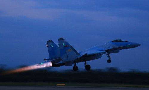 Tiêm kích Su-35S Trung Quốc. Ảnh: Weibo.