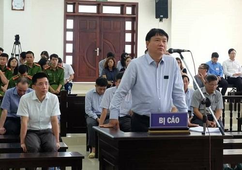 Ông Đinh La Thăng tại phiên phúc thẩm. Ảnh: N.A.