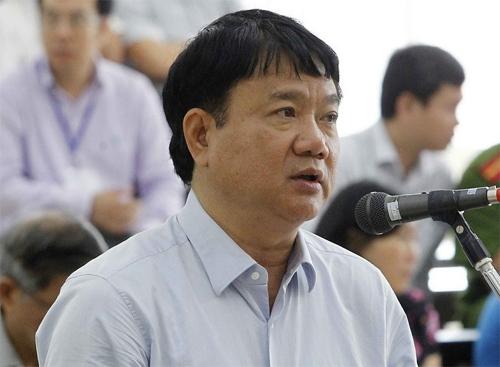 Ông Đinh La Thăng tai phiên tòa phúc thẩm. Ảnh: TTXVN