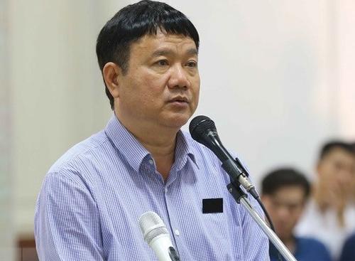 Bị cáo Đinh La Thăng tại phiên phúc thẩm.Ảnh: TTXVN.