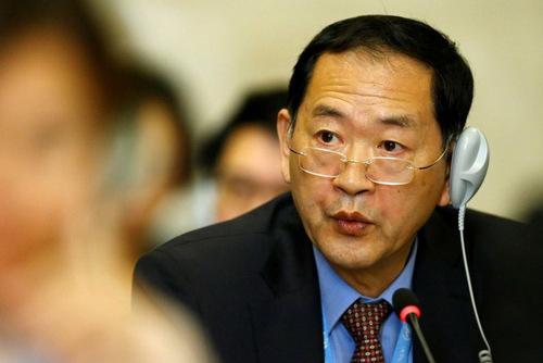 Đại sứ Triều Tiên tại Liên Hợp Quốc Han Tae-song. Ảnh: AP.