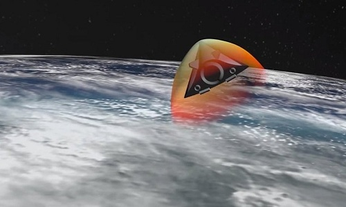 Mô phỏng tổ hợp Avangard trong quá trình tấn công mục tiêu. Ảnh: Sputnik.