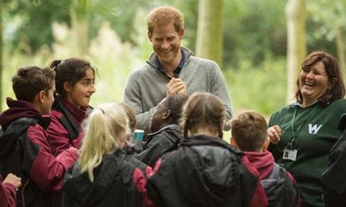Trong những năm gần đây, Hoàng tử Harry tích cực tham gia các hoạt động từ thiện. Ảnh: AFP.