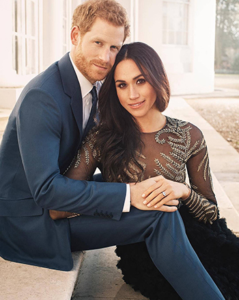 Hoàng tử Harry và hôn thê trong ảnh đính hôn. Ảnh: Kensington Palace