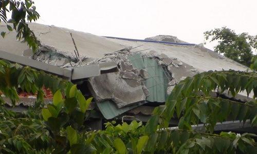 Sập sàn bêtông công trình ở Đồng Nai, hai công nhân tử vong