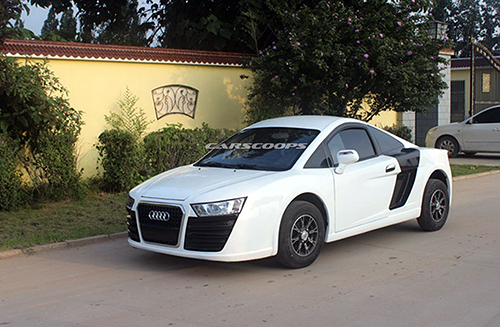 Mẫu xe điện với những đường nét tương tự Audi R8. Ảnh: Carscoops.